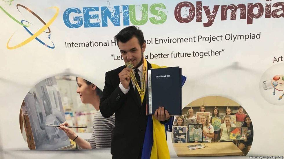 Український школяр отримав золото на «Олімпіаді геніїв» у США
